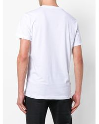 Versace Jeans - White All-over Print T-shirt for Men - Lyst