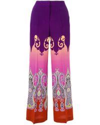 Etro - Multicolor Marrakesh Print Wide-leg Pants - Lyst