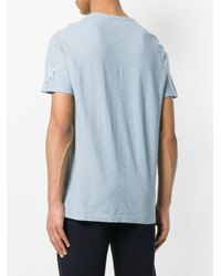 Dondup - Blue Embroidered Detail T-shirt for Men - Lyst
