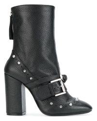 N°21 - Black Stivali Con Fibbia - Lyst