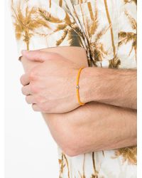 Luis Morais - Orange Enameled Stripe Beaded Bracelet - Lyst