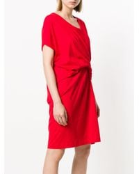 Reality Studio - Red Knotted T-shirt Dress - Lyst