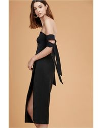 5321153b44da Lyst - C meo Collective  charged Up  Off-shoulder Midi Dress in Black