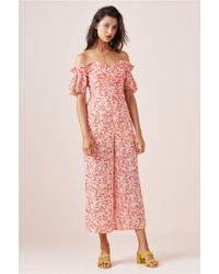 Finders Keepers - Pink Faded Jumpsuit - Lyst