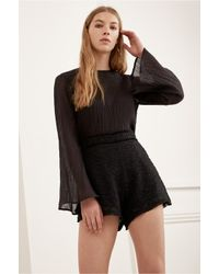 C/meo Collective - Black Static Space Short - Lyst