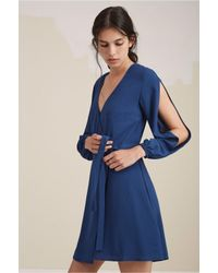 The Fifth Label - Blue Join The Party Long Sleeve Dress - Lyst