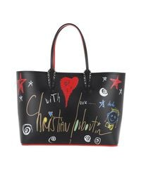 Christian Louboutin - Heart Star Studded Tote Leather Black - Lyst