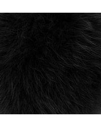 Furla - Black Bubble Keyring Pon Pon Onyx - Lyst
