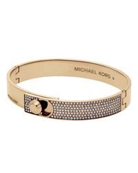 Michael Kors - Metallic Chain And Element Bracelet Gold-tone - Lyst