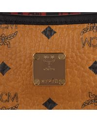 MCM - Brown Project Visetos Reversible Shopper Medium Cognac - Lyst