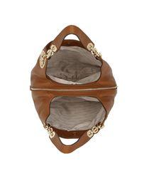Michael Kors - Brown Fulton Lg Shoulder Tote Luggage/gold - Lyst