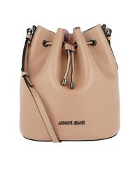 Armani Jeans - Natural Synthetic Bucket Bag Cipria - Lyst
