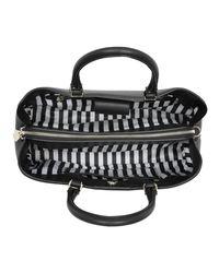 Patrizia Pepe - Black Handle Bag Plain Top Zipper Nero - Lyst