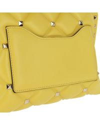 Valentino - Candystud Shoulder Bag Leather Yellow - Lyst