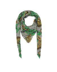 Gucci - Green Gg Bengal Modal Silk Shawl Ebony/ Multi - Lyst