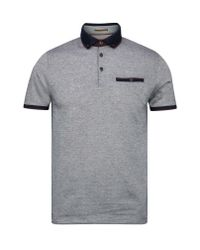 Ted Baker - Blue Meyoman Contrast Collar Polo Shirt for Men - Lyst