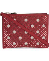Versus - Red Versus Studded Cross-body Bag - Lyst