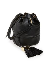 See By Chloé | Natural Small Vicki Leather Bucket Bag | Lyst