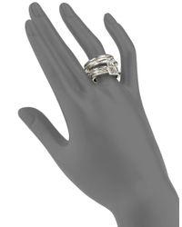 Uno De 50 | Metallic Hammered Metal Layered Ring | Lyst