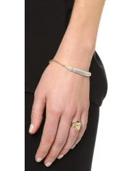 Alexis Bittar - Metallic Encrusted Id Curb Chain Bracelet - Lyst