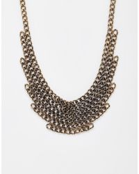 Pieces | Metallic Ravona Linked Chain Necklace | Lyst