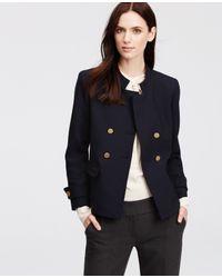 Ann Taylor | Blue Double Breasted Blazer | Lyst