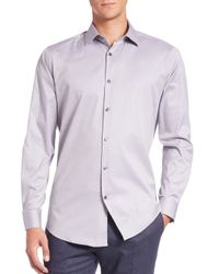 Theory | Blue Slim-fit Dover Cotton Sportshirt for Men | Lyst