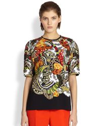Fendi | Jungle Pattern Pailette Top | Lyst