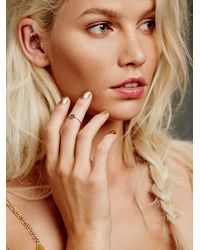 Free People - Pink Workhorse Womens Itzel Diamond Ring - Lyst