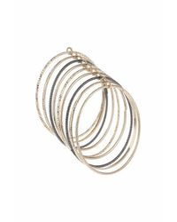 TOPSHOP | Metallic Linked Bangle Pack | Lyst