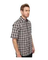 Carhartt | Gray Essential Plaid Open Collar S/s Shirt for Men | Lyst
