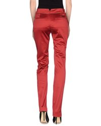 Class Roberto Cavalli | Red Casual Trouser | Lyst