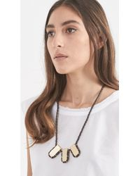 Erin Considine | Brown Triple Gully Pendant Necklace | Lyst