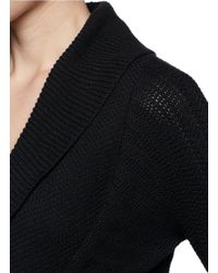 Armani - Black Texture Knit Jacket - Lyst