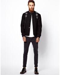 Libertine-Libertine - Black Wool Bomber Jacket for Men - Lyst
