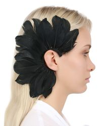 Francesco Ballestrazzi - Black Feather Mono Ear Cuff - Lyst