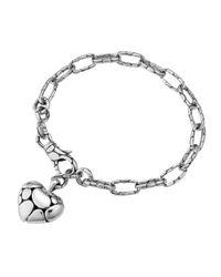 John Hardy - Metallic Kali Heartcharm Link Bracelet - Lyst