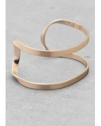 & Other Stories | Metallic Winding Brass Cuff | Lyst
