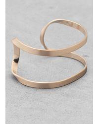 & Other Stories - Metallic Winding Brass Cuff - Lyst