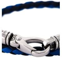 Tod's - Blue Braided Double Strap Bracelet for Men - Lyst