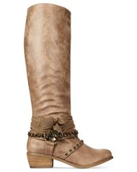 Naughty Monkey | Brown Not Rated Tualamne Western Boots | Lyst