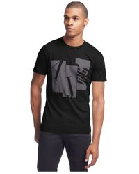 Armani Jeans - Black Eagle Block T-shirt for Men - Lyst