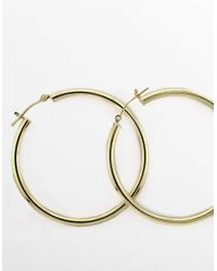 Lord & Taylor | 14k Yellow Gold Polished Hoop Earrings | Lyst