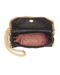 Stella McCartney - Black Falabella Shaggy Deer Tiny Faux-Leather Shoulder Bag - Lyst