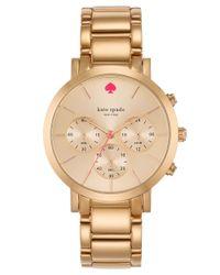 kate spade new york - Metallic Ladies Gramercy Grand Chronograph Watch - Lyst