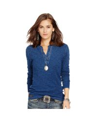 Polo Ralph Lauren | Blue Long-sleeve Henley Shirt | Lyst
