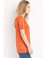 Forever 21 - Orange Scoop Neck Tee - Lyst