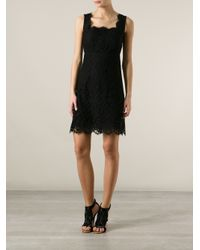 Dolce & Gabbana - Black Sleeveless Lace Dress - Lyst
