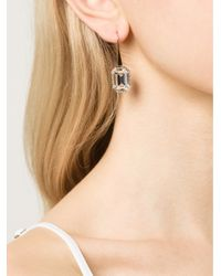 Rebecca - Metallic Elizabeth Single Stone Earrings - Lyst