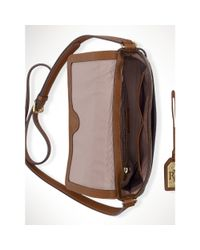 Ralph Lauren - Brown Buckled Leather Cross-Body - Lyst